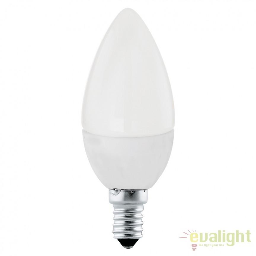 Bec E14-LED-C37 4W 320 lm 4000K 10766 EL, Magazin, Corpuri de iluminat, lustre, aplice, veioze, lampadare, plafoniere. Mobilier si decoratiuni, oglinzi, scaune, fotolii. Oferte speciale iluminat interior si exterior. Livram in toata tara.  a
