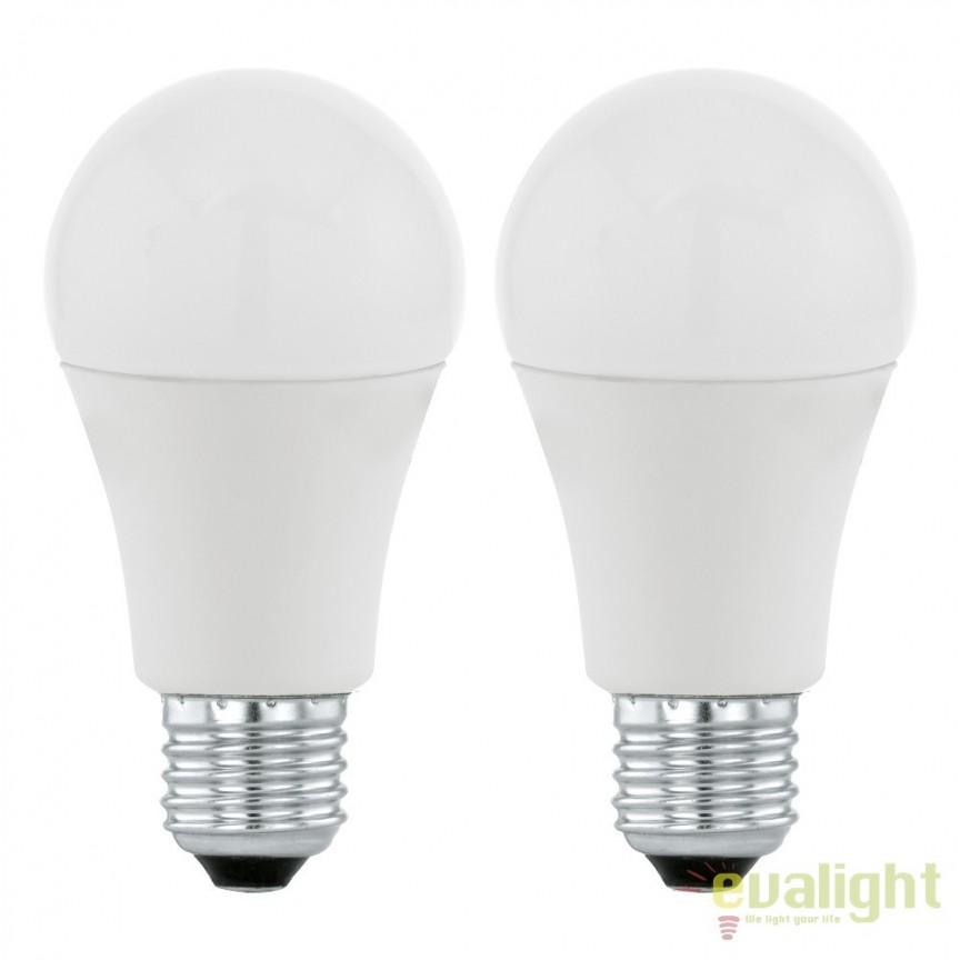 Set 2 becuri E27-LED-A60 6W 470 lm 3000K 11543 EL, Magazin, Corpuri de iluminat, lustre, aplice, veioze, lampadare, plafoniere. Mobilier si decoratiuni, oglinzi, scaune, fotolii. Oferte speciale iluminat interior si exterior. Livram in toata tara.  a
