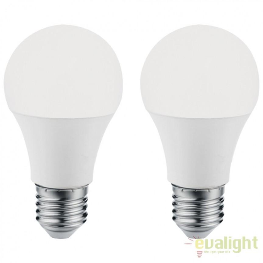 Set 2 becuri E27-LED-A60 10W 806 lm 3000K 11483 EL, Magazin, Corpuri de iluminat, lustre, aplice, veioze, lampadare, plafoniere. Mobilier si decoratiuni, oglinzi, scaune, fotolii. Oferte speciale iluminat interior si exterior. Livram in toata tara.  a