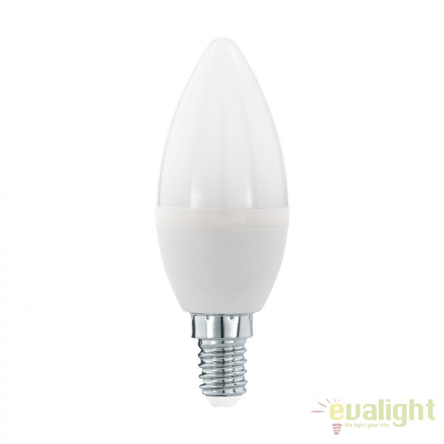 Bec E14-LED-C37 5,5W 470 lm 3000K 11643 EL, Becuri E14, Corpuri de iluminat, lustre, aplice, veioze, lampadare, plafoniere. Mobilier si decoratiuni, oglinzi, scaune, fotolii. Oferte speciale iluminat interior si exterior. Livram in toata tara.  a