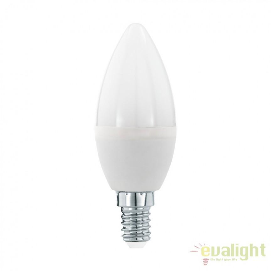 Bec dimabil E14-LED-C37 5,5W 470 lm 3000K 11645 EL, Becuri E14, Corpuri de iluminat, lustre, aplice, veioze, lampadare, plafoniere. Mobilier si decoratiuni, oglinzi, scaune, fotolii. Oferte speciale iluminat interior si exterior. Livram in toata tara.  a