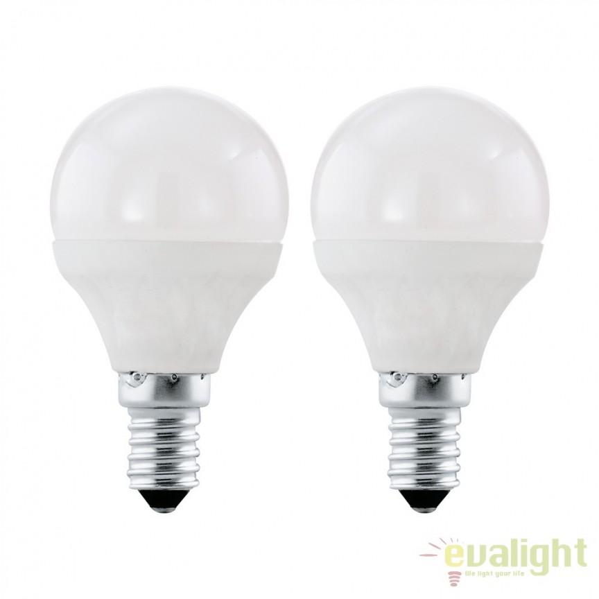 Set 2 becuri E14-LED-P45 4W 320 lm 3000K 10775 EL, Magazin, Corpuri de iluminat, lustre, aplice, veioze, lampadare, plafoniere. Mobilier si decoratiuni, oglinzi, scaune, fotolii. Oferte speciale iluminat interior si exterior. Livram in toata tara.  a