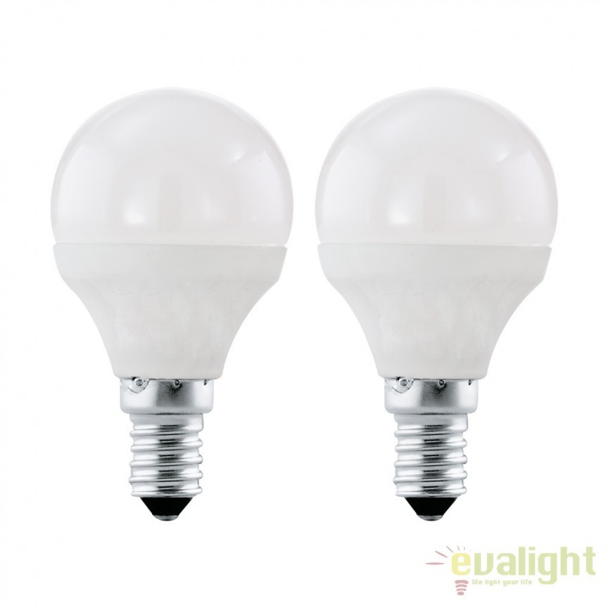 Set 2 becuri E14-LED-P45 4W 320 lm 4000K 10776 EL, Becuri E14, Corpuri de iluminat, lustre, aplice, veioze, lampadare, plafoniere. Mobilier si decoratiuni, oglinzi, scaune, fotolii. Oferte speciale iluminat interior si exterior. Livram in toata tara.  a