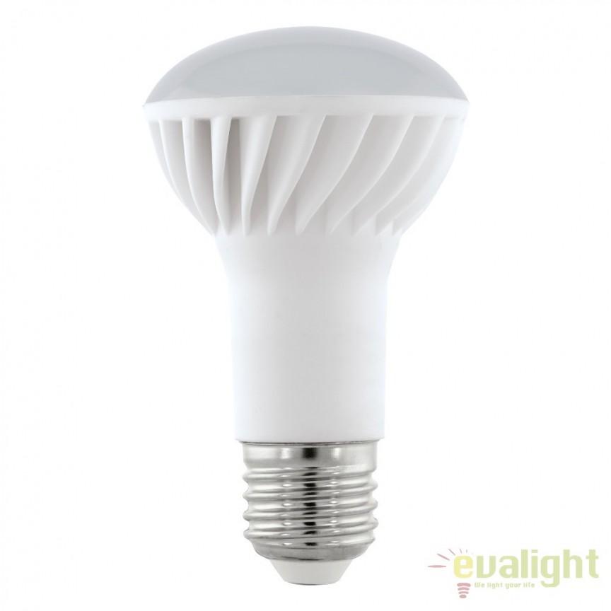 Bec E27-LED-R63 7W 500 lm 3000K 11432 EL, Magazin, Corpuri de iluminat, lustre, aplice, veioze, lampadare, plafoniere. Mobilier si decoratiuni, oglinzi, scaune, fotolii. Oferte speciale iluminat interior si exterior. Livram in toata tara.  a
