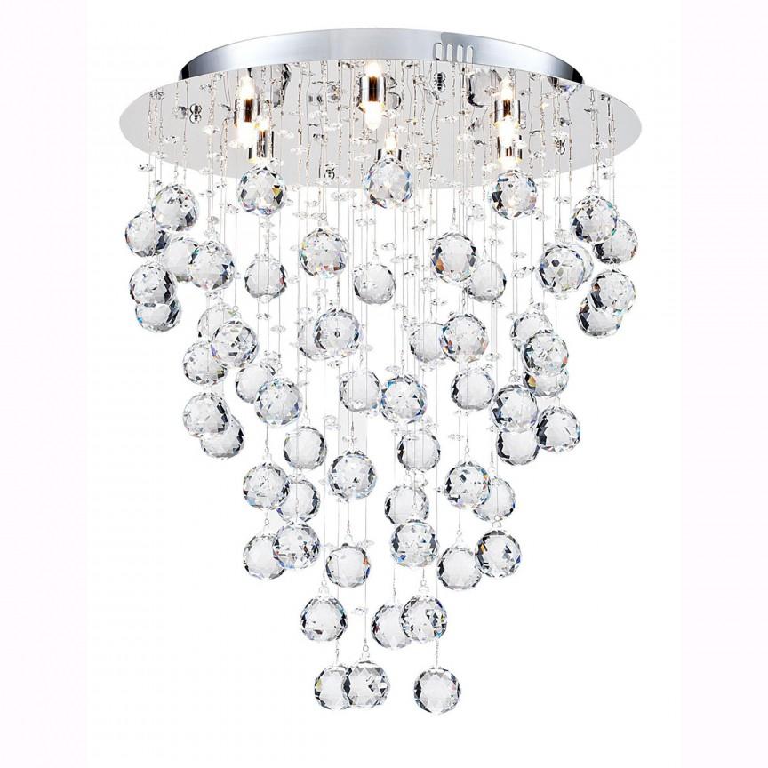 Plafoniera eleganta cu cristale Rockfall, 45cm MYDIA207-45-N, Plafoniere moderne, Corpuri de iluminat, lustre, aplice, veioze, lampadare, plafoniere. Mobilier si decoratiuni, oglinzi, scaune, fotolii. Oferte speciale iluminat interior si exterior. Livram in toata tara.  a