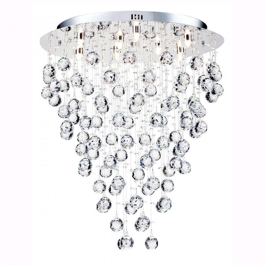 Plafoniera eleganta cu cristale Rockfall, 55cm MYDIA207-55-N , Plafoniere moderne, Corpuri de iluminat, lustre, aplice, veioze, lampadare, plafoniere. Mobilier si decoratiuni, oglinzi, scaune, fotolii. Oferte speciale iluminat interior si exterior. Livram in toata tara.  a