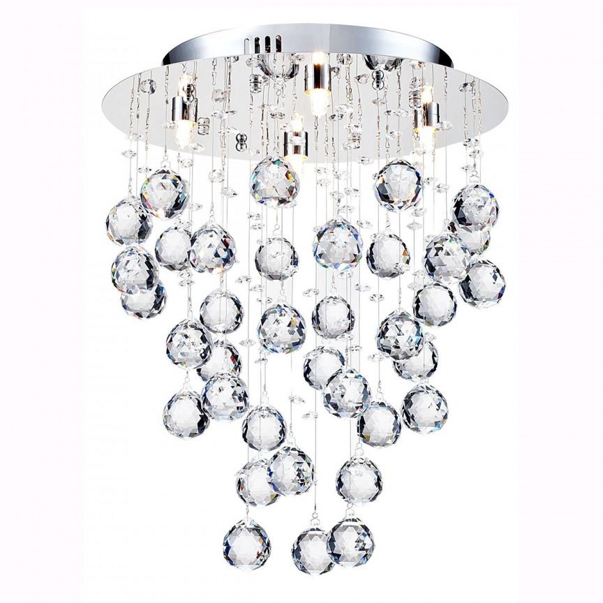 Plafoniera eleganta cu cristale Rockfall, 35cm MYDIA207-35-N , Plafoniere moderne, Corpuri de iluminat, lustre, aplice, veioze, lampadare, plafoniere. Mobilier si decoratiuni, oglinzi, scaune, fotolii. Oferte speciale iluminat interior si exterior. Livram in toata tara.  a