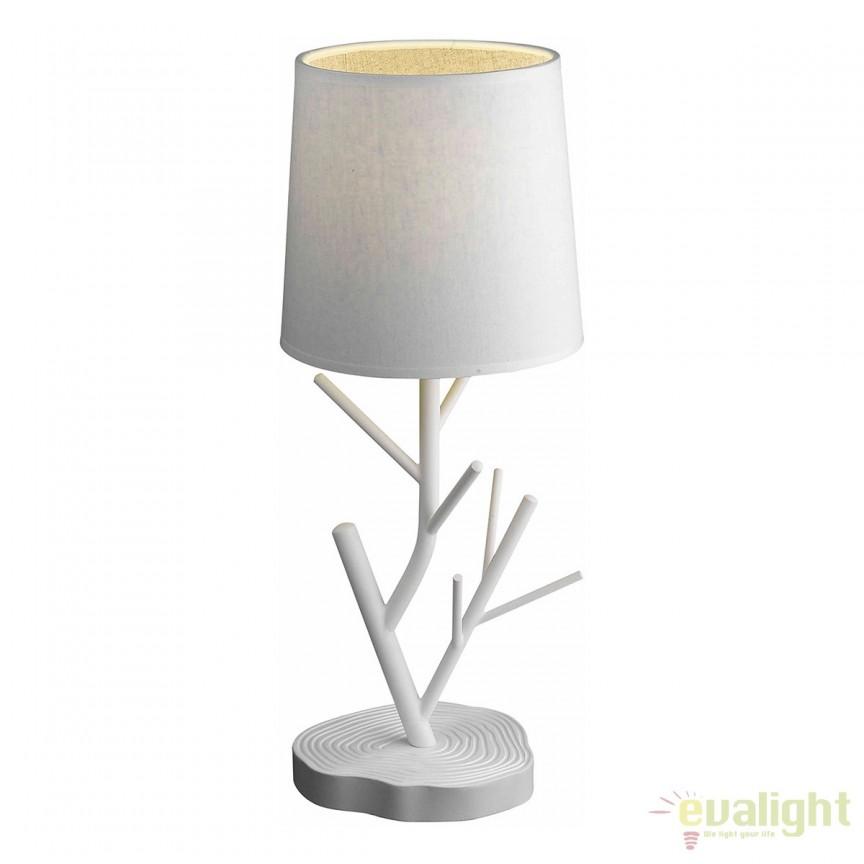 Veioza design deosebit cu aspect de lemn, NARDO T0230-01B-S8A1 ZL, Veioze, Lampi de masa, Corpuri de iluminat, lustre, aplice, veioze, lampadare, plafoniere. Mobilier si decoratiuni, oglinzi, scaune, fotolii. Oferte speciale iluminat interior si exterior. Livram in toata tara.  a