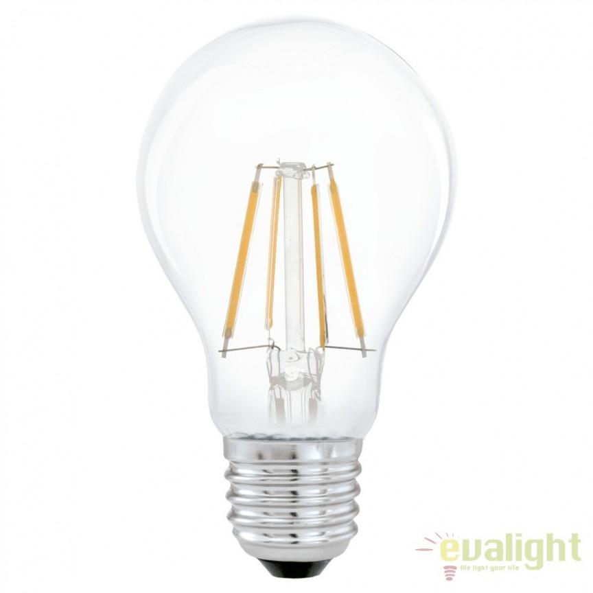 Bec E27-LED-A60 4W 350 lm 2700K 11491 EL, Candelabre si Lustre moderne elegante⭐ modele clasice de lux pentru living, bucatarie si dormitor.✅ DeSiGn actual Top 2020!❤️Promotii lampi❗ ➽ www.evalight.ro. Oferte corpuri de iluminat suspendate pt camere de interior (înalte), suspensii (lungi) de tip lustre si candelabre, pendule decorative stil modern, clasic, rustic, baroc, scandinav, retro sau vintage, aplicate pe perete sau de tavan, cu cristale, abajur din material textil, lemn, metal, sticla, bec Edison sau LED, ieftine de calitate deosebita la cel mai bun pret. a