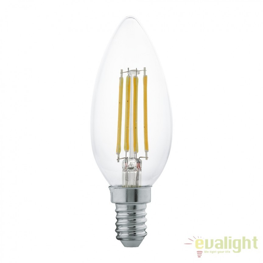 Bec E14-LED-C35 4W 350 lm 2700K 11496 EL, Becuri E14, Corpuri de iluminat, lustre, aplice, veioze, lampadare, plafoniere. Mobilier si decoratiuni, oglinzi, scaune, fotolii. Oferte speciale iluminat interior si exterior. Livram in toata tara.  a