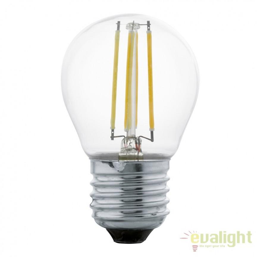 Bec E27-LED-G45 4W 350 lm 2700K 11498 EL, Magazin, Corpuri de iluminat, lustre, aplice, veioze, lampadare, plafoniere. Mobilier si decoratiuni, oglinzi, scaune, fotolii. Oferte speciale iluminat interior si exterior. Livram in toata tara.  a