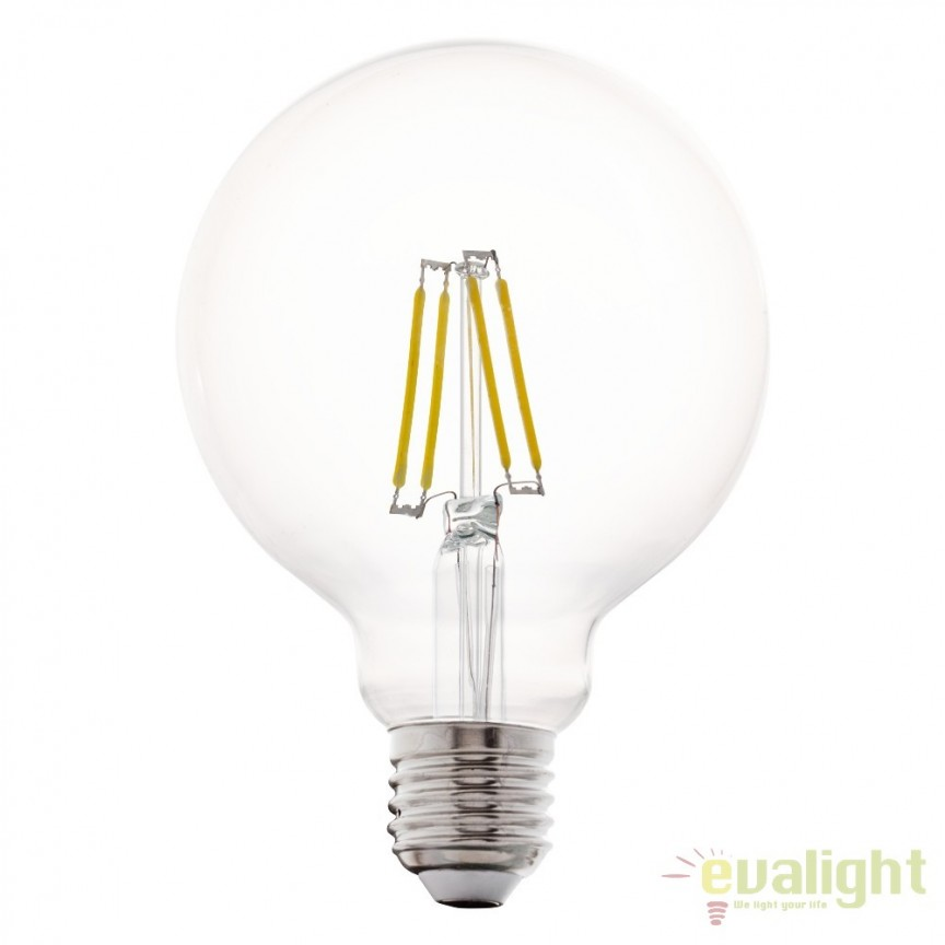 Bec E27-LED-G95 4W 350 lm 2700K 11502 EL, Magazin, Corpuri de iluminat, lustre, aplice, veioze, lampadare, plafoniere. Mobilier si decoratiuni, oglinzi, scaune, fotolii. Oferte speciale iluminat interior si exterior. Livram in toata tara.  a
