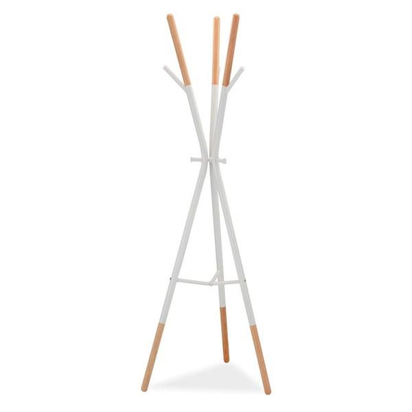 Cuier modern din lemn si metal HUDSON, alb/ fag HUDSONBBU SM, Mobilier divers, Corpuri de iluminat, lustre, aplice, veioze, lampadare, plafoniere. Mobilier si decoratiuni, oglinzi, scaune, fotolii. Oferte speciale iluminat interior si exterior. Livram in toata tara.  a