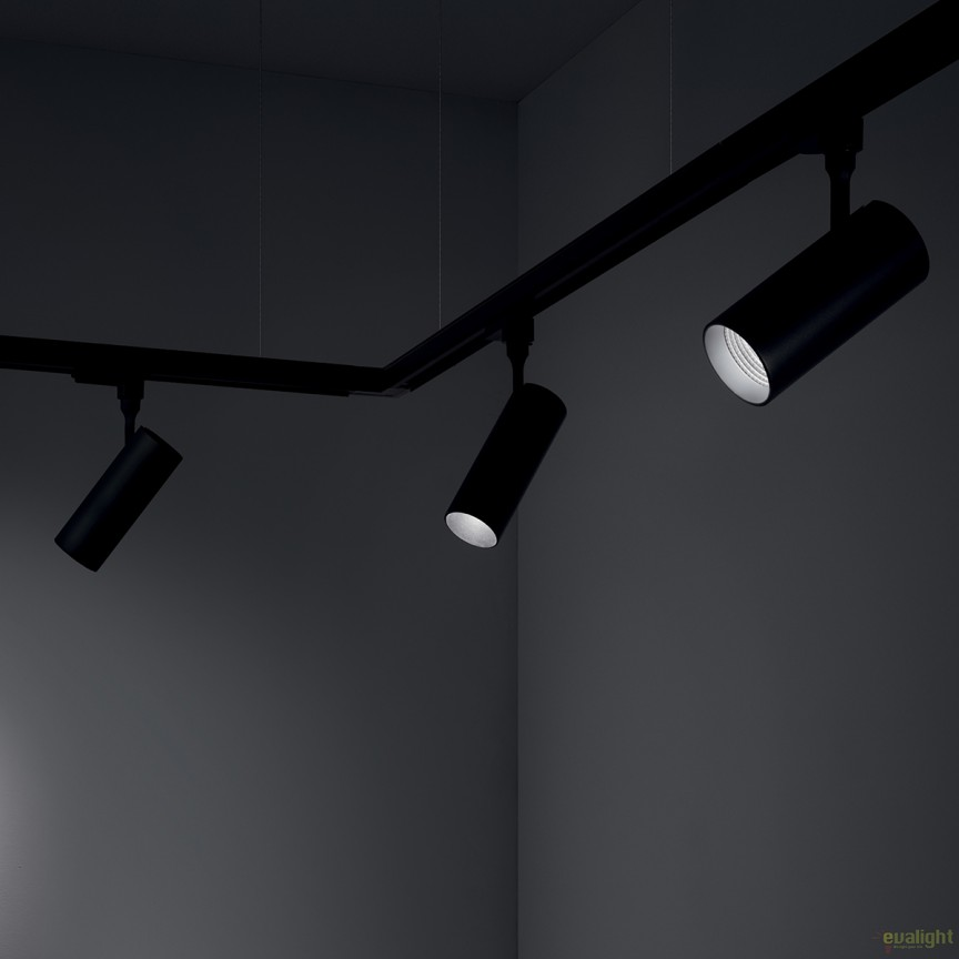 Spot LED pe sina directionabil SMILE mini 15W 3000K CRI90 36° negru 189789, Spoturi, Proiectoare pe sina, Corpuri de iluminat, lustre, aplice, veioze, lampadare, plafoniere. Mobilier si decoratiuni, oglinzi, scaune, fotolii. Oferte speciale iluminat interior si exterior. Livram in toata tara.  a
