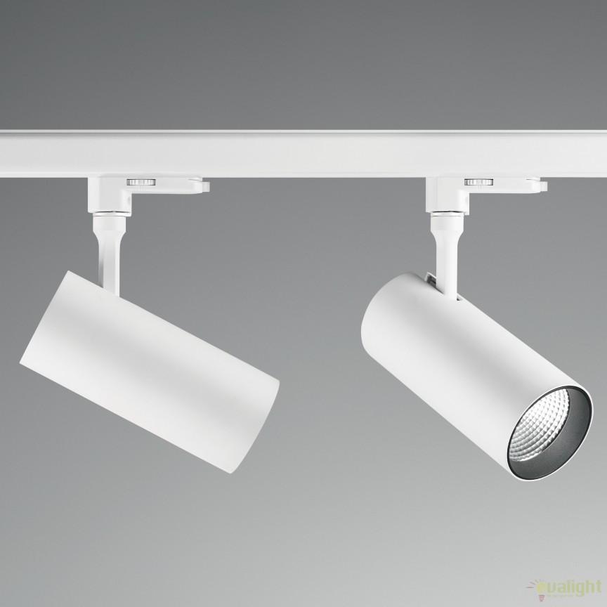Spot LED pe sina directionabil SMILE medium 20W 3000K CRI80 45° alb 189994, Spoturi, Proiectoare pe sina, Corpuri de iluminat, lustre, aplice, veioze, lampadare, plafoniere. Mobilier si decoratiuni, oglinzi, scaune, fotolii. Oferte speciale iluminat interior si exterior. Livram in toata tara.  a