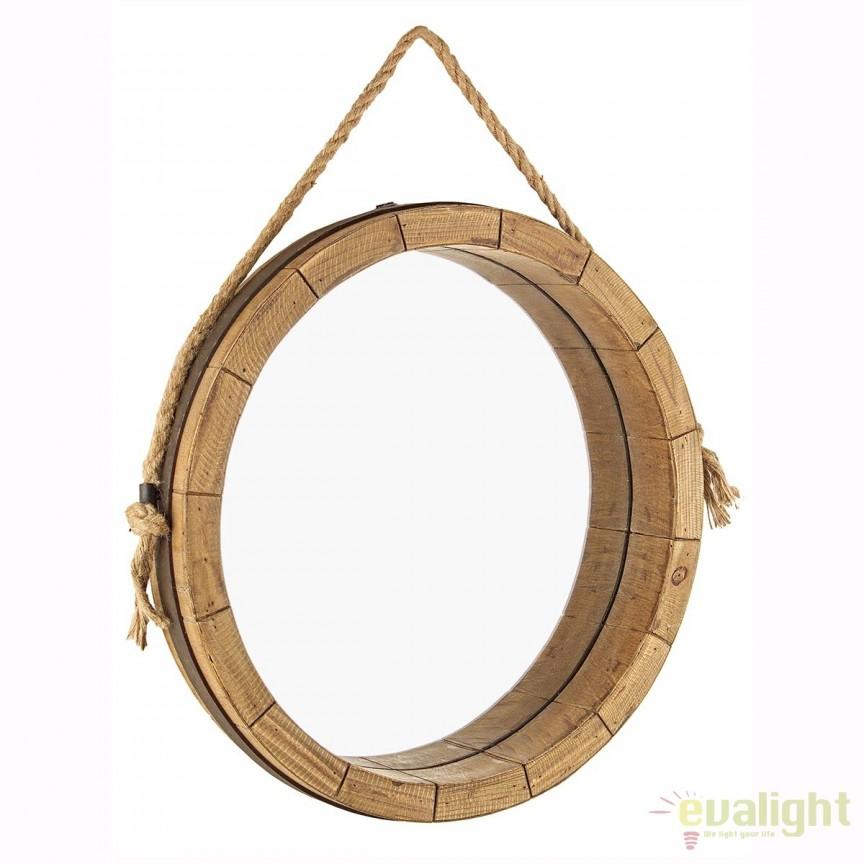 Oglinda decorativa design rustic TINO 0242240 BZ, Oglinzi decorative, Corpuri de iluminat, lustre, aplice, veioze, lampadare, plafoniere. Mobilier si decoratiuni, oglinzi, scaune, fotolii. Oferte speciale iluminat interior si exterior. Livram in toata tara.  a