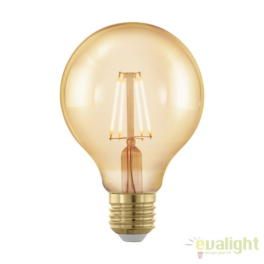 Bec dimabil E27-LED-G80 4W 320 lm 1700K 11692 EL, Becuri E27, Corpuri de iluminat, lustre, aplice, veioze, lampadare, plafoniere. Mobilier si decoratiuni, oglinzi, scaune, fotolii. Oferte speciale iluminat interior si exterior. Livram in toata tara.  a