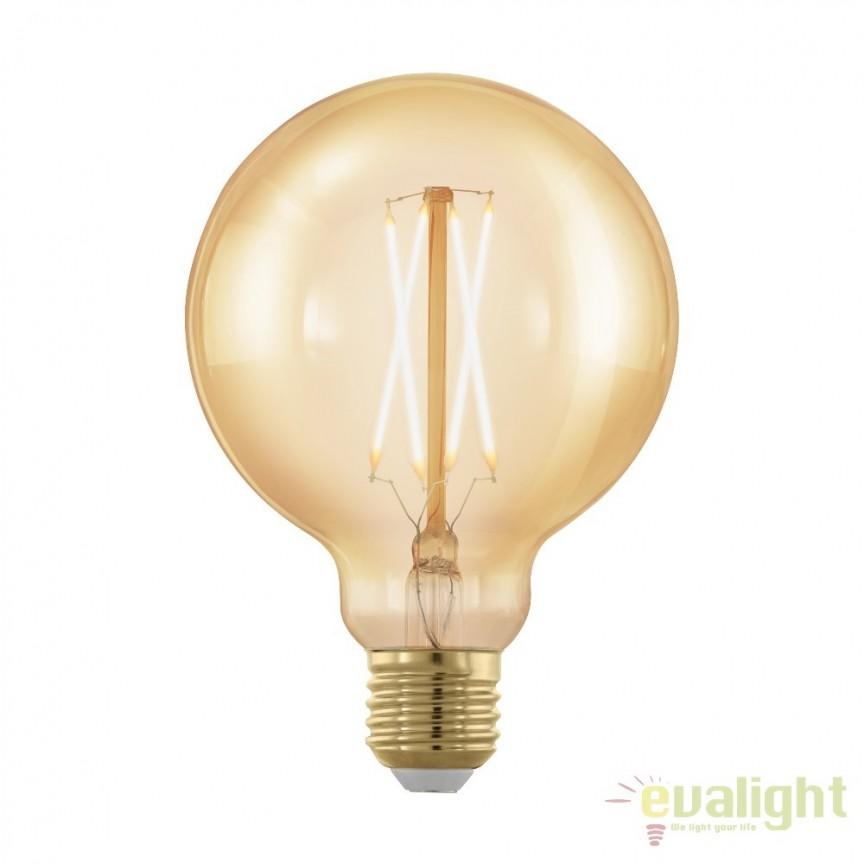 Bec dimabil E27-LED-G95 4W 320 lm 1700K 11693 EL, Becuri E27, Corpuri de iluminat, lustre, aplice, veioze, lampadare, plafoniere. Mobilier si decoratiuni, oglinzi, scaune, fotolii. Oferte speciale iluminat interior si exterior. Livram in toata tara.  a