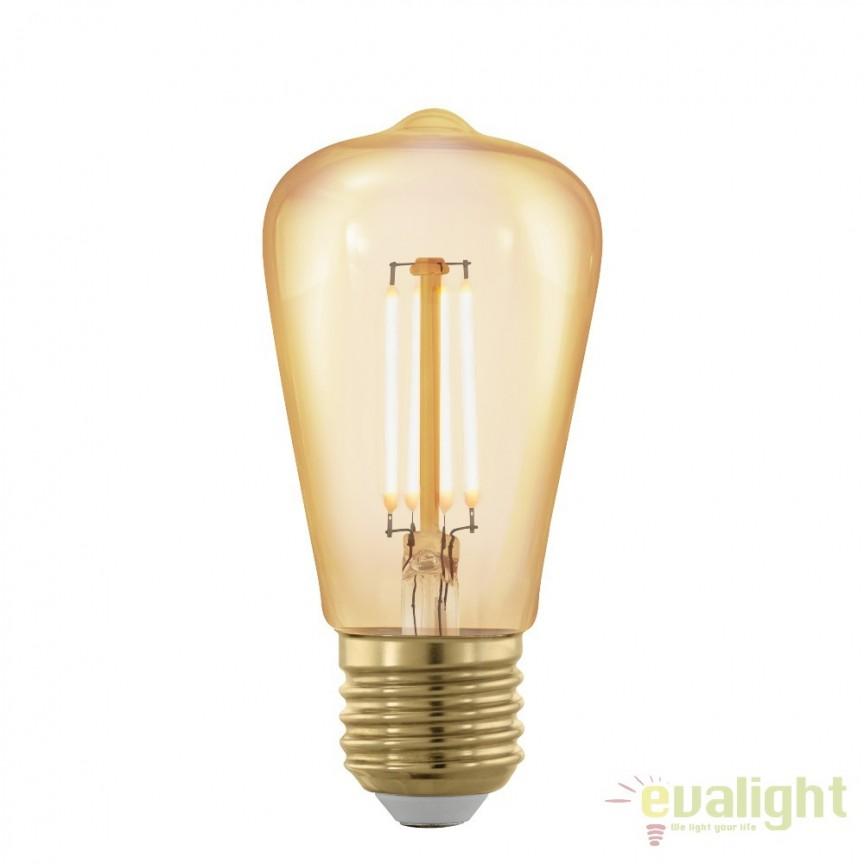 Bec dimabil E27-LED-ST48 4W 320 lm 1700K 11695 EL, Becuri E27, Corpuri de iluminat, lustre, aplice, veioze, lampadare, plafoniere. Mobilier si decoratiuni, oglinzi, scaune, fotolii. Oferte speciale iluminat interior si exterior. Livram in toata tara.  a
