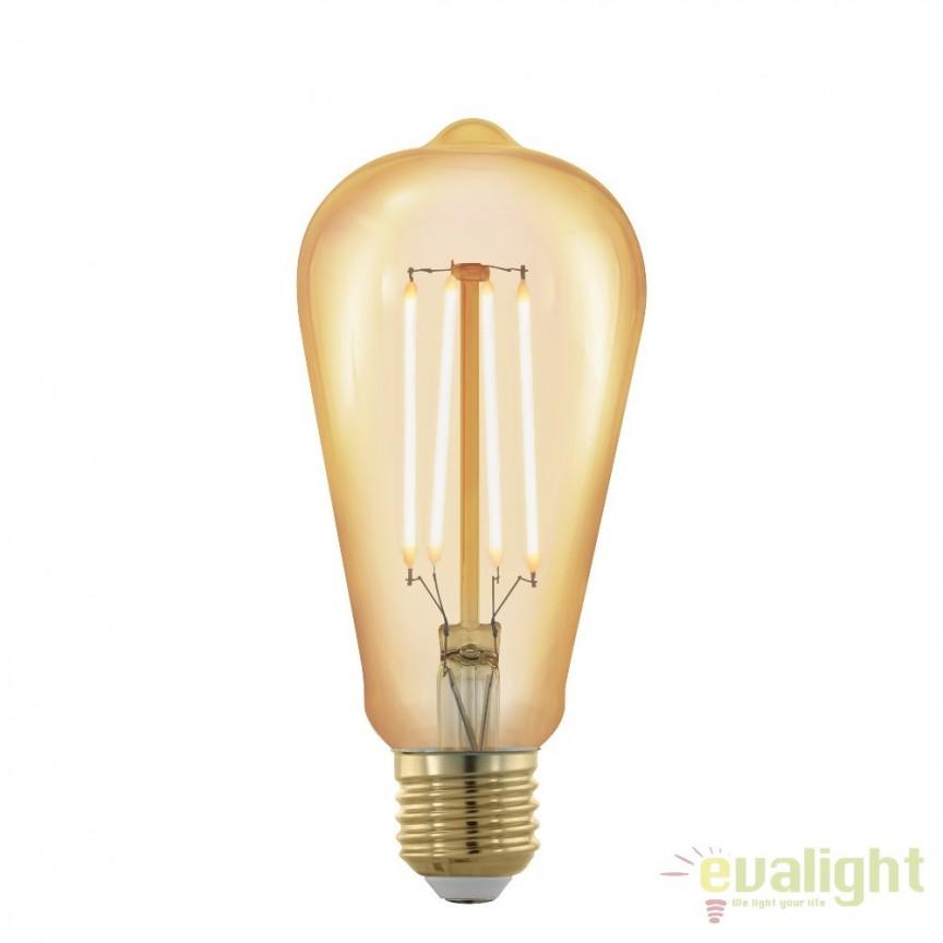 Bec dimabil E27-LED-ST64 4W 320 lm 1700K 11696 EL, Becuri E27, Corpuri de iluminat, lustre, aplice, veioze, lampadare, plafoniere. Mobilier si decoratiuni, oglinzi, scaune, fotolii. Oferte speciale iluminat interior si exterior. Livram in toata tara.  a