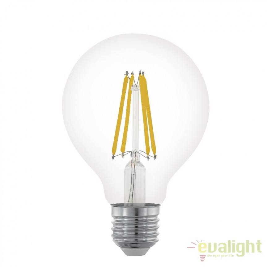 Bec dimabil E27-LED-G80 6W 806 lm 2700K 11702 EL, BECURI ILUMINAT, Corpuri de iluminat, lustre, aplice, veioze, lampadare, plafoniere. Mobilier si decoratiuni, oglinzi, scaune, fotolii. Oferte speciale iluminat interior si exterior. Livram in toata tara.  a