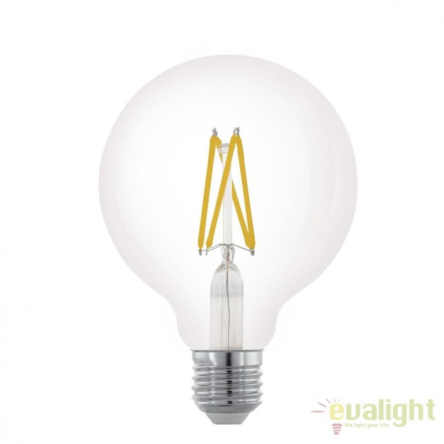 Bec dimabil E27-LED-G95 6W 806 lm 2700K 11703 EL, Becuri E27, Corpuri de iluminat, lustre, aplice, veioze, lampadare, plafoniere. Mobilier si decoratiuni, oglinzi, scaune, fotolii. Oferte speciale iluminat interior si exterior. Livram in toata tara.  a