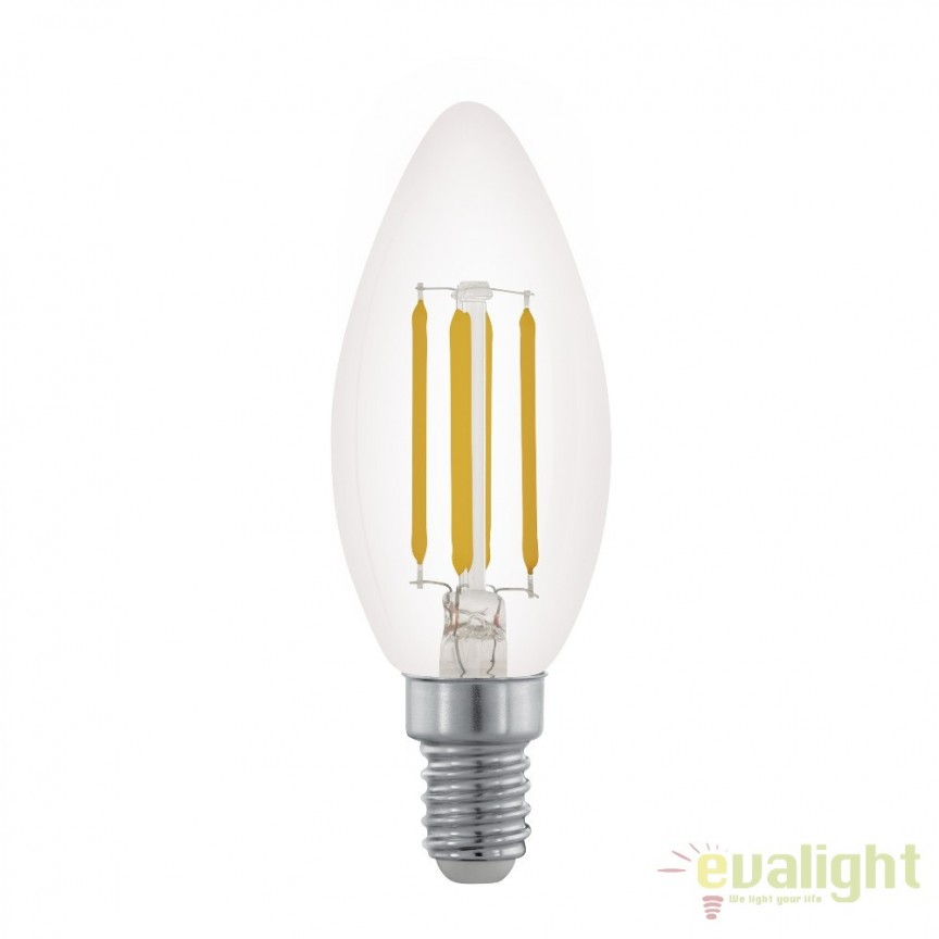 Bec dimabil E14-LED-C35 3,5W 350 lm 2700K 11704 EL, Becuri E14, Corpuri de iluminat, lustre, aplice, veioze, lampadare, plafoniere. Mobilier si decoratiuni, oglinzi, scaune, fotolii. Oferte speciale iluminat interior si exterior. Livram in toata tara.  a