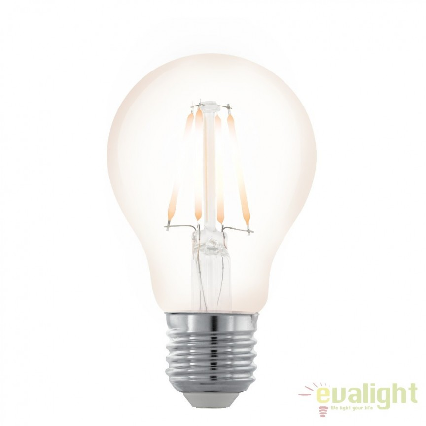 Bec dimabil E27-LED-A60 4W 390 lm 2200K 11705 EL, BECURI ILUMINAT, Corpuri de iluminat, lustre, aplice, veioze, lampadare, plafoniere. Mobilier si decoratiuni, oglinzi, scaune, fotolii. Oferte speciale iluminat interior si exterior. Livram in toata tara.  a
