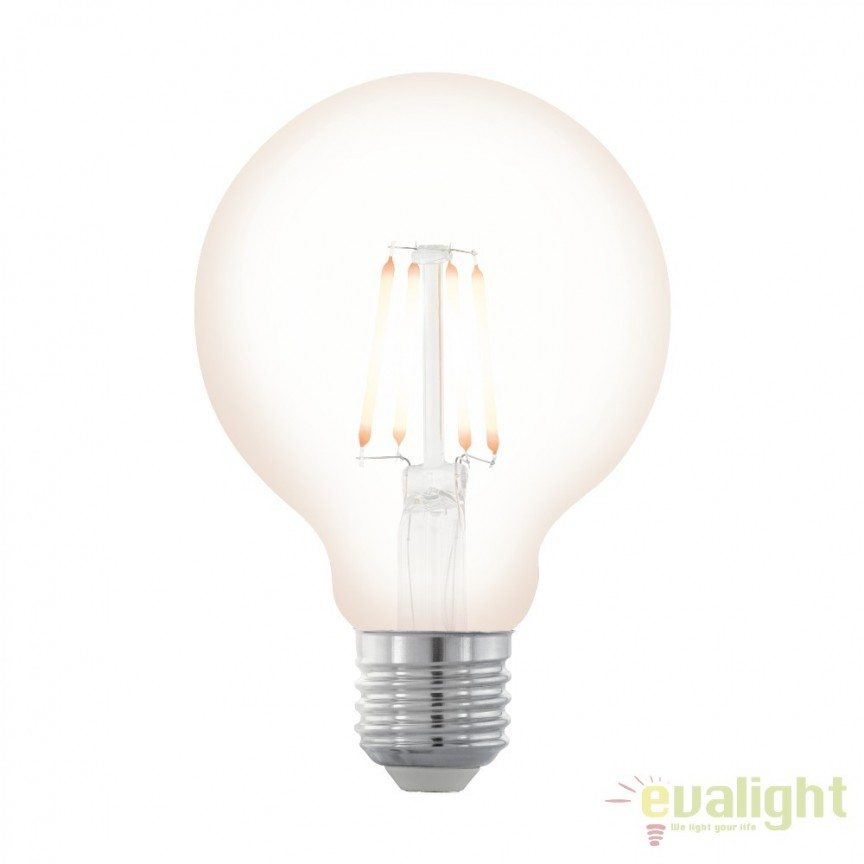 Bec dimabil E27-LED-G80 4W 390 lm 2200K 11706 EL, BECURI ILUMINAT, Corpuri de iluminat, lustre, aplice, veioze, lampadare, plafoniere. Mobilier si decoratiuni, oglinzi, scaune, fotolii. Oferte speciale iluminat interior si exterior. Livram in toata tara.  a