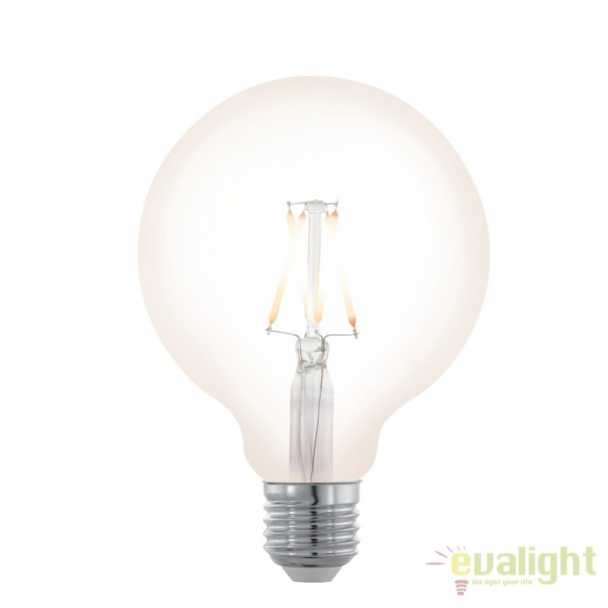 Bec dimabil E27-LED-G95 4W 390 lm 2200K 11707 EL, Becuri E27, Corpuri de iluminat, lustre, aplice, veioze, lampadare, plafoniere. Mobilier si decoratiuni, oglinzi, scaune, fotolii. Oferte speciale iluminat interior si exterior. Livram in toata tara.  a