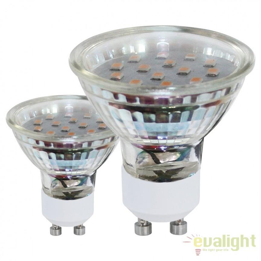 Set 2 becuri GU10-LED 3W 240 lm 3000K 11427 EL, Becuri GU10, GU4, GU3,5, Corpuri de iluminat, lustre, aplice, veioze, lampadare, plafoniere. Mobilier si decoratiuni, oglinzi, scaune, fotolii. Oferte speciale iluminat interior si exterior. Livram in toata tara.  a