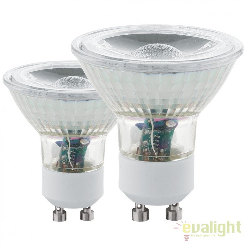 Set 2 becuri GU10-LED 5W 400 lm 3000K 11511 EL, Becuri GU10, GU4, GU3,5, Corpuri de iluminat, lustre, aplice, veioze, lampadare, plafoniere. Mobilier si decoratiuni, oglinzi, scaune, fotolii. Oferte speciale iluminat interior si exterior. Livram in toata tara.  a