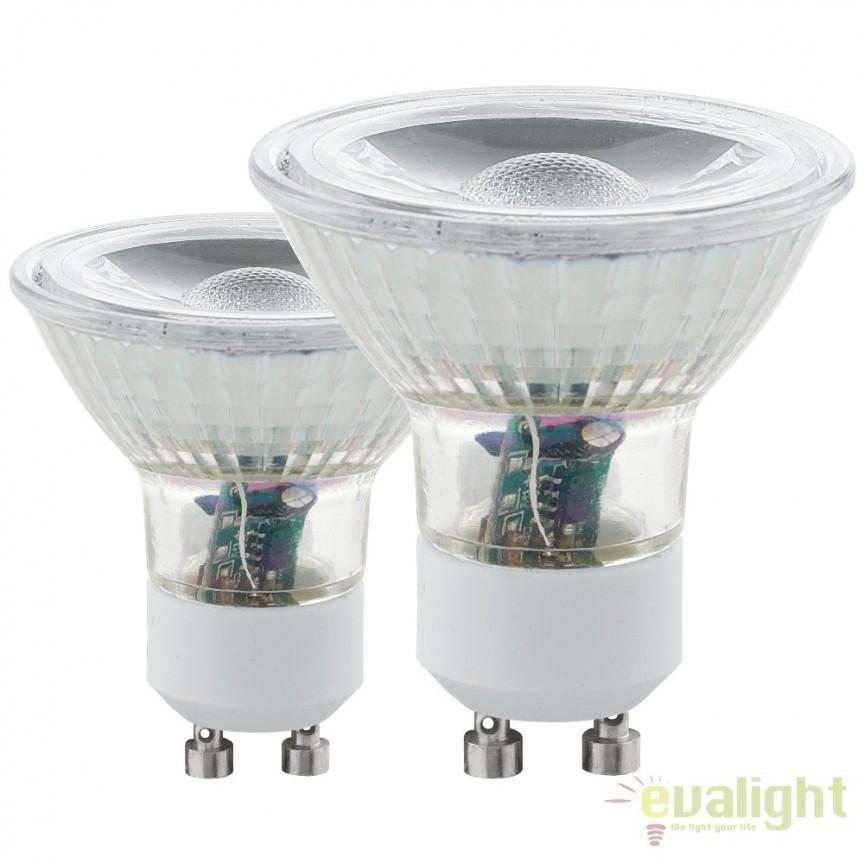 Set 2 becuri GU10-LED 5W 400 lm 4000K 11526 EL, Becuri GU10, GU4, GU3,5, Corpuri de iluminat, lustre, aplice, veioze, lampadare, plafoniere. Mobilier si decoratiuni, oglinzi, scaune, fotolii. Oferte speciale iluminat interior si exterior. Livram in toata tara.  a