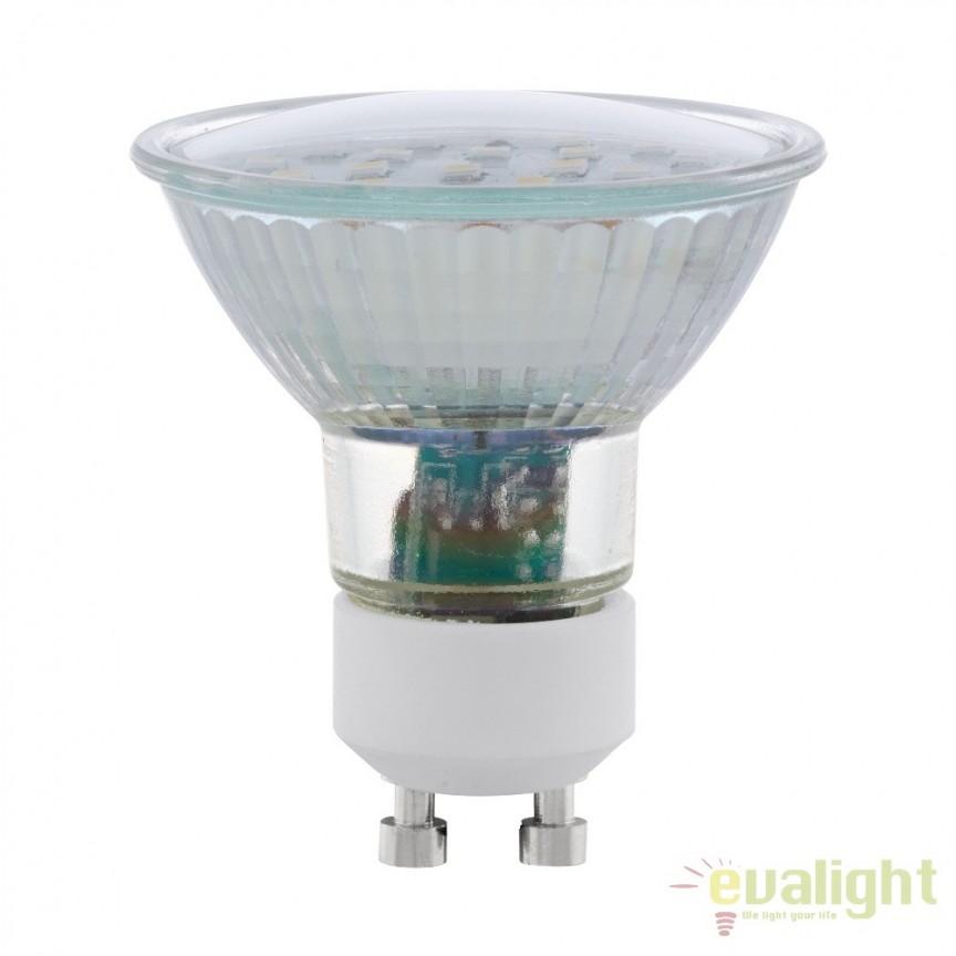 Bec GU10-LED 5W 400 lm 3000K 11535 EL, Becuri GU10, GU4, GU3,5, Corpuri de iluminat, lustre, aplice, veioze, lampadare, plafoniere. Mobilier si decoratiuni, oglinzi, scaune, fotolii. Oferte speciale iluminat interior si exterior. Livram in toata tara.  a