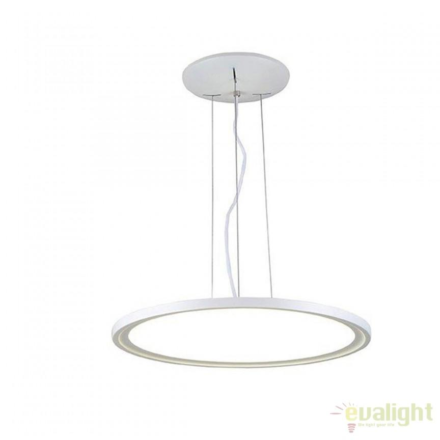 Lustra LED design modern slim VOLEA 28W 166618 SU, Lustre LED, Pendule LED, Corpuri de iluminat, lustre, aplice, veioze, lampadare, plafoniere. Mobilier si decoratiuni, oglinzi, scaune, fotolii. Oferte speciale iluminat interior si exterior. Livram in toata tara.  a