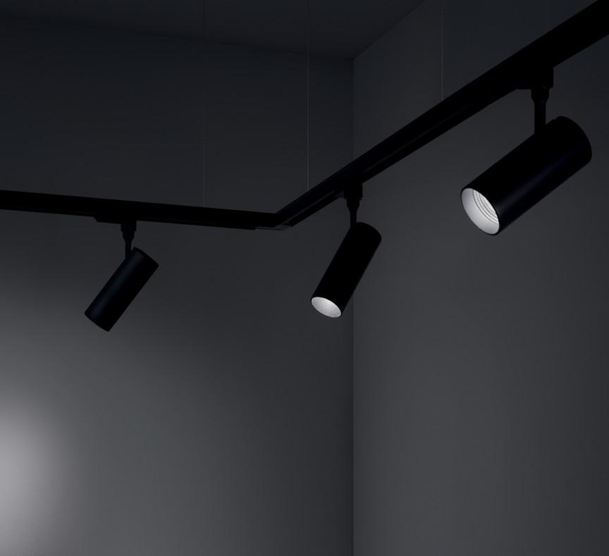 Spot LED pe sina directionabil SMILE big 30W 3000K CRI90 45° negru 190105, Spoturi, Proiectoare pe sina, Corpuri de iluminat, lustre, aplice, veioze, lampadare, plafoniere. Mobilier si decoratiuni, oglinzi, scaune, fotolii. Oferte speciale iluminat interior si exterior. Livram in toata tara.  a