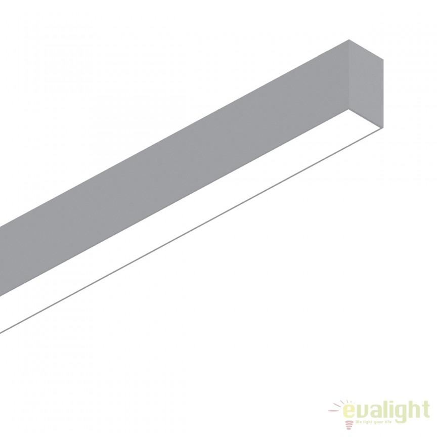 Lustra LED profesionala 26W 3000K FLUO WIDE 1200 aluminiu 191447, Lustre, Pendule suspendate / spatii comerciale, Corpuri de iluminat, lustre, aplice, veioze, lampadare, plafoniere. Mobilier si decoratiuni, oglinzi, scaune, fotolii. Oferte speciale iluminat interior si exterior. Livram in toata tara.  a