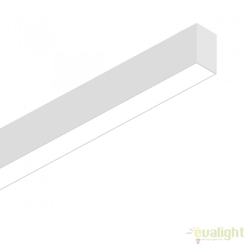 Lustra LED profesionala 26W 3000K FLUO WIDE 1200 alba 192437, Lustre, Pendule suspendate profesionale, Corpuri de iluminat, lustre, aplice, veioze, lampadare, plafoniere. Mobilier si decoratiuni, oglinzi, scaune, fotolii. Oferte speciale iluminat interior si exterior. Livram in toata tara.  a