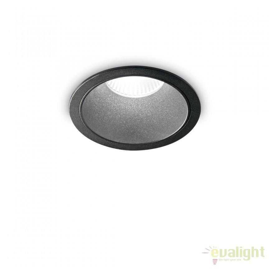 Spot LED incastrabil design modern GAME FI1 ROUND negru / negru 192314, Spoturi LED incastrate, aplicate, Corpuri de iluminat, lustre, aplice, veioze, lampadare, plafoniere. Mobilier si decoratiuni, oglinzi, scaune, fotolii. Oferte speciale iluminat interior si exterior. Livram in toata tara.  a