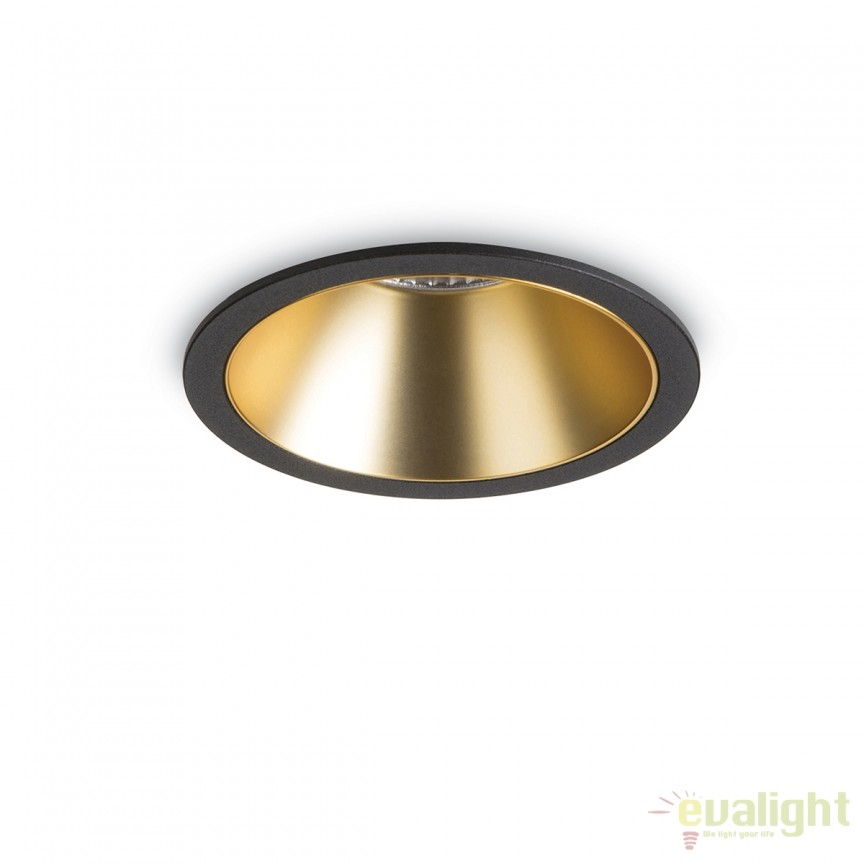 Spot LED incastrabil design modern GAME FI1 ROUND negru / auriu 192345, Spoturi LED incastrate, aplicate, Corpuri de iluminat, lustre, aplice, veioze, lampadare, plafoniere. Mobilier si decoratiuni, oglinzi, scaune, fotolii. Oferte speciale iluminat interior si exterior. Livram in toata tara.  a