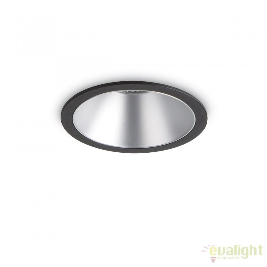 Spot LED incastrabil design modern GAME FI1 ROUND negru / argintiu 192321, Spoturi LED incastrate, aplicate, Corpuri de iluminat, lustre, aplice, veioze, lampadare, plafoniere. Mobilier si decoratiuni, oglinzi, scaune, fotolii. Oferte speciale iluminat interior si exterior. Livram in toata tara.  a