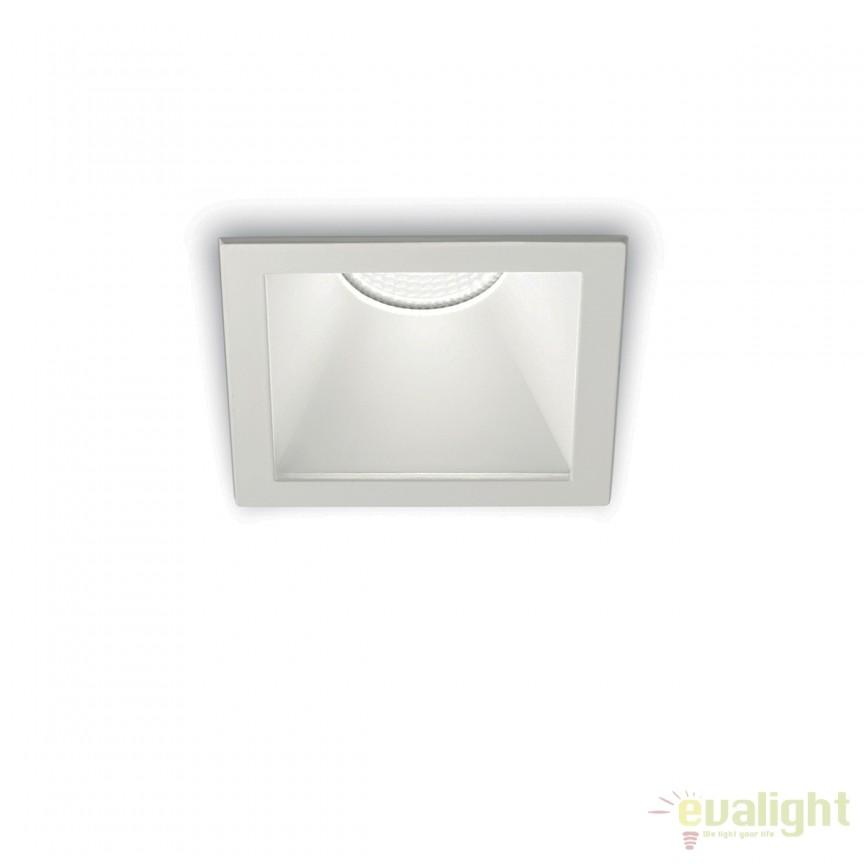 Spot LED incastrabil design modern GAME FI1 SQUARE alb / alb 192376, Spoturi LED incastrate, aplicate, Corpuri de iluminat, lustre, aplice, veioze, lampadare, plafoniere. Mobilier si decoratiuni, oglinzi, scaune, fotolii. Oferte speciale iluminat interior si exterior. Livram in toata tara.  a