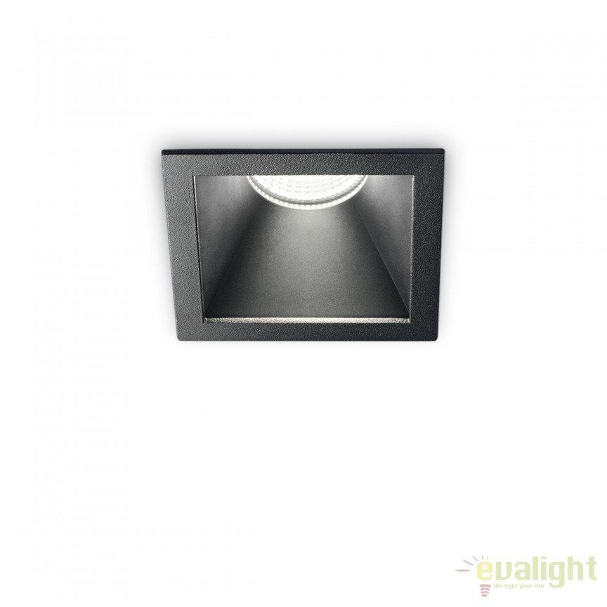 Spot LED incastrabil design modern GAME FI1 SQUARE negru / negru 192383, Spoturi LED incastrate, aplicate, Corpuri de iluminat, lustre, aplice, veioze, lampadare, plafoniere. Mobilier si decoratiuni, oglinzi, scaune, fotolii. Oferte speciale iluminat interior si exterior. Livram in toata tara.  a