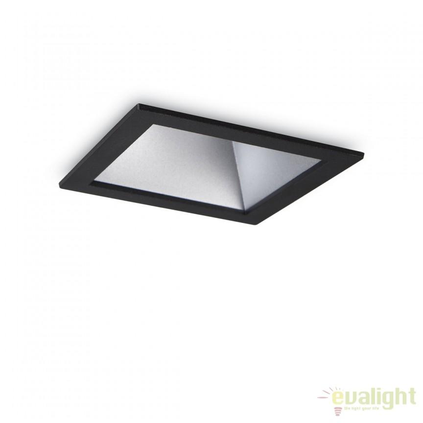 Spot LED incastrabil design modern GAME FI1 SQUARE negru / argintiu 192390, Spoturi LED incastrate, aplicate, Corpuri de iluminat, lustre, aplice, veioze, lampadare, plafoniere. Mobilier si decoratiuni, oglinzi, scaune, fotolii. Oferte speciale iluminat interior si exterior. Livram in toata tara.  a