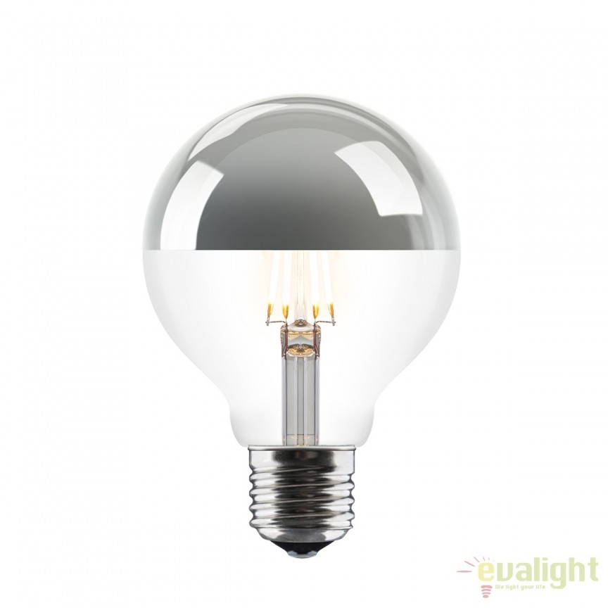 Bec LED 6W E27 2700K 4033 VTC, Becuri E27, Corpuri de iluminat, lustre, aplice, veioze, lampadare, plafoniere. Mobilier si decoratiuni, oglinzi, scaune, fotolii. Oferte speciale iluminat interior si exterior. Livram in toata tara.  a