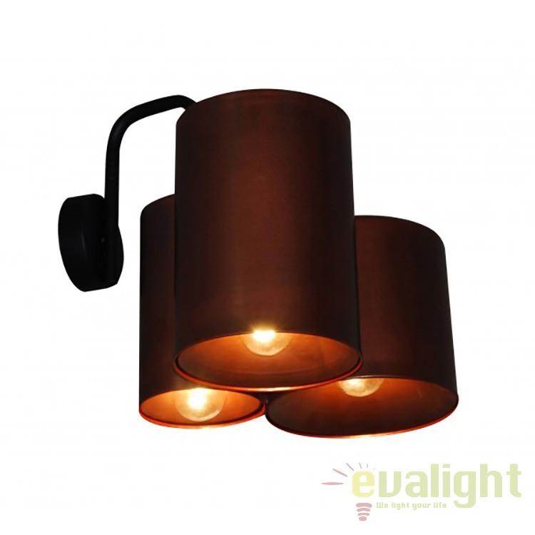Aplica design industrial HL-3567-3PB BRODY OLD COOPER & BLACK 77-3992 HL, NOU ! Lustre VINTAGE, RETRO, INDUSTRIA Style, Corpuri de iluminat, lustre, aplice, veioze, lampadare, plafoniere. Mobilier si decoratiuni, oglinzi, scaune, fotolii. Oferte speciale iluminat interior si exterior. Livram in toata tara.  a