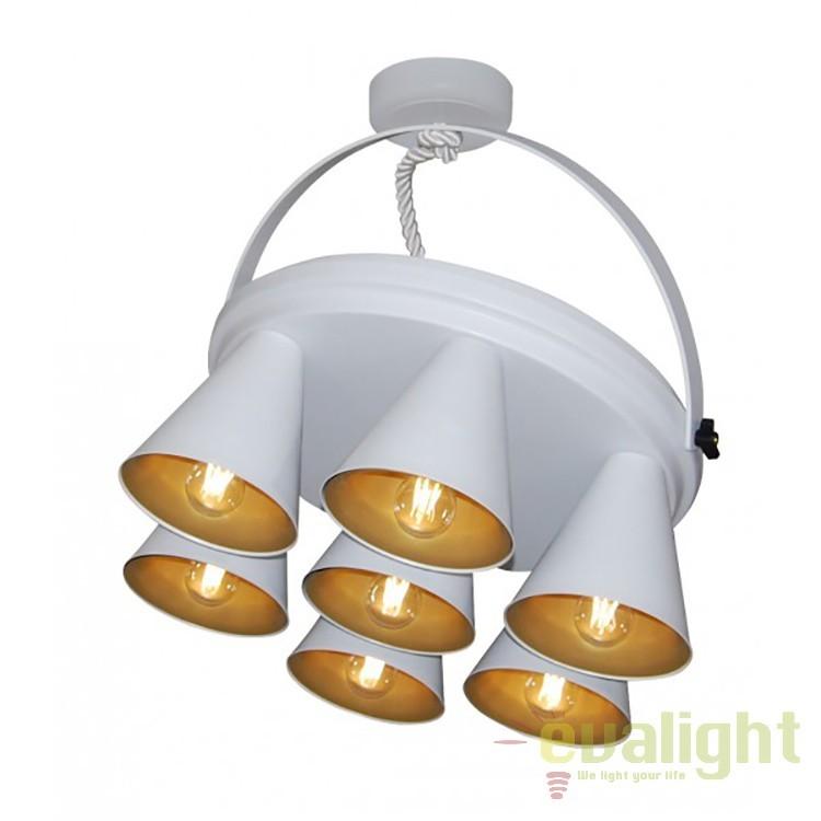 Lustra plicata design industrial HL-3578-1B BRANDON WHITE & MAT GOLD 77-3999 HL, NOU ! Lustre VINTAGE, RETRO, INDUSTRIA Style, Corpuri de iluminat, lustre, aplice, veioze, lampadare, plafoniere. Mobilier si decoratiuni, oglinzi, scaune, fotolii. Oferte speciale iluminat interior si exterior. Livram in toata tara.  a