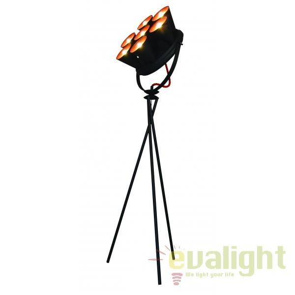 Lampadar design industrial HL-3578-7F BRANDON BLACK & MAT COOPER 77-4001 HL, NOU ! Lustre VINTAGE, RETRO, INDUSTRIA Style, Corpuri de iluminat, lustre, aplice, veioze, lampadare, plafoniere. Mobilier si decoratiuni, oglinzi, scaune, fotolii. Oferte speciale iluminat interior si exterior. Livram in toata tara.  a