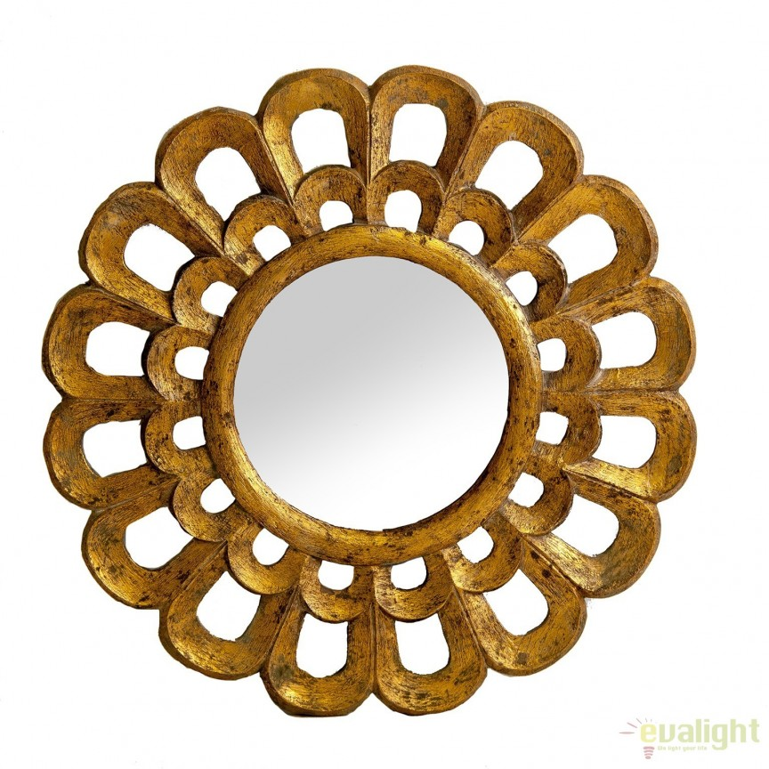 Oglinda decorativa din lemn tropical ALIXAN, 60cm 23925 VH, Oglinzi decorative, Corpuri de iluminat, lustre, aplice, veioze, lampadare, plafoniere. Mobilier si decoratiuni, oglinzi, scaune, fotolii. Oferte speciale iluminat interior si exterior. Livram in toata tara.  a