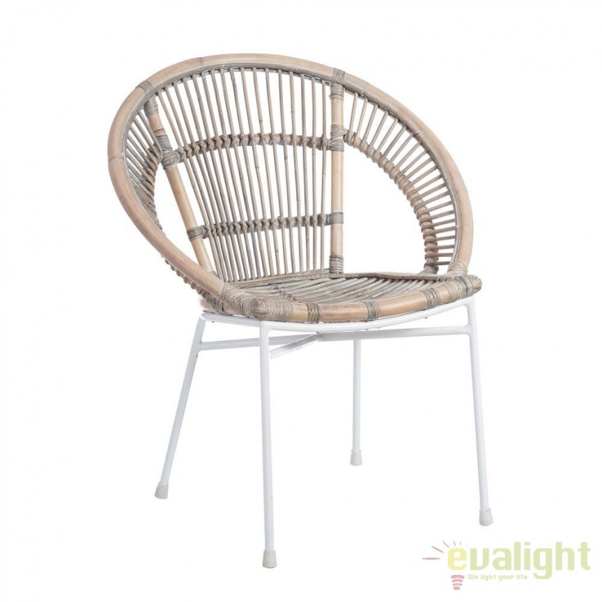 Set de 2 scaune design rustic Rattan, NATURAL 101205 SX, Mobilier terasa si gradina, Corpuri de iluminat, lustre, aplice, veioze, lampadare, plafoniere. Mobilier si decoratiuni, oglinzi, scaune, fotolii. Oferte speciale iluminat interior si exterior. Livram in toata tara.  a